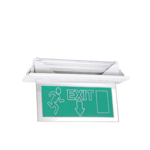 Recessed Mounted Vialed Emergency Exit Luminaire